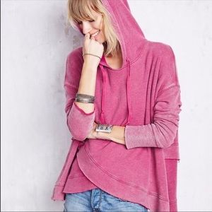 Free People Sunset Surplice oversized Hoodie Small